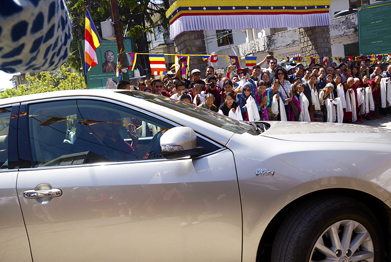 HHDL return to Dharamshala