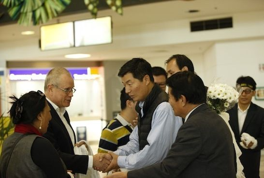 sikyong arrives in australia