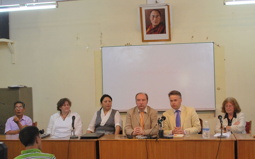UK parliament delegation visits Dharamshala, India. Photo: TPI