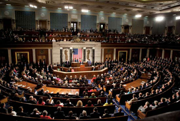 The United States House of Representatives which is the lower chamber of the United States Congress. Photo: File