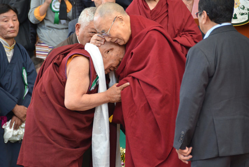 Dr Yeshi Dhondhen with His Holiness the Dalai Lama. Photo: file