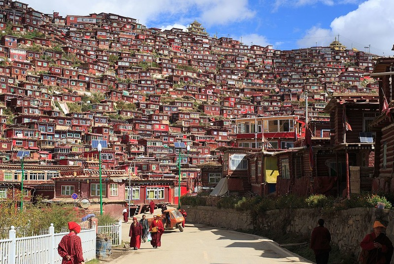 Undated picture of Larung Gar prior to destruction. Photo: file