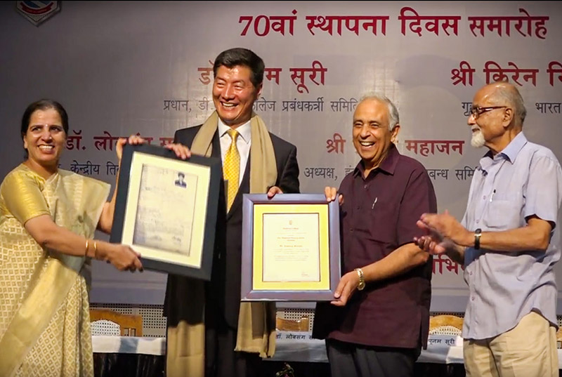 Tibet-India-President-Hansraj-College-Award-2017