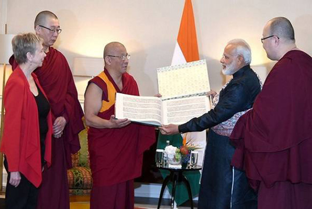 India-PM-Modi-Sacred-Tibet-books-Russia- Buddhism