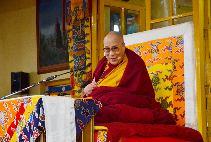 His Holiness the Dalai Lama gives teaching from the Jataka Tales