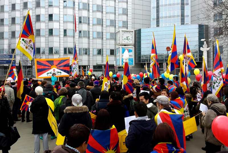 20th anniversary of raise your flag for tibet campaign in germany