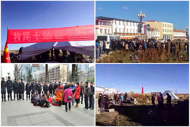 Tibet-protesting-in-Thangkor-Land-grab-2016