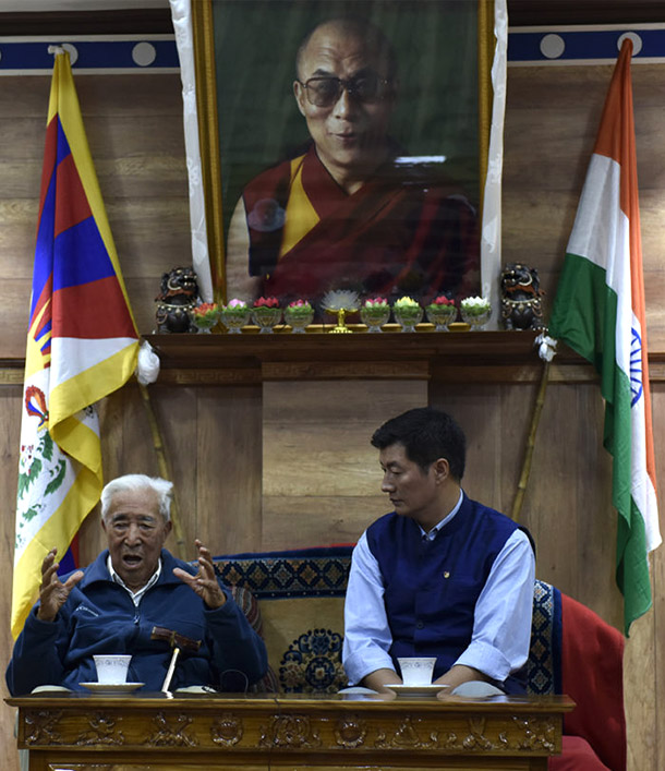 Tibet-India-China-Gyalo-Thondup-President-Sangay-2