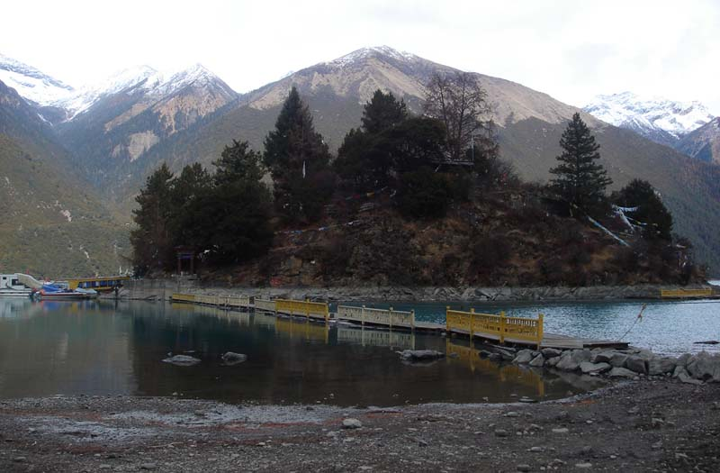 A lake surrounding a small hill in Kongpo region eastern Tibet. Photo: TPI/File