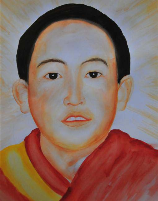 Painting of 21 year old 11th Panchen Lama Rinpoche. Photo: TWA