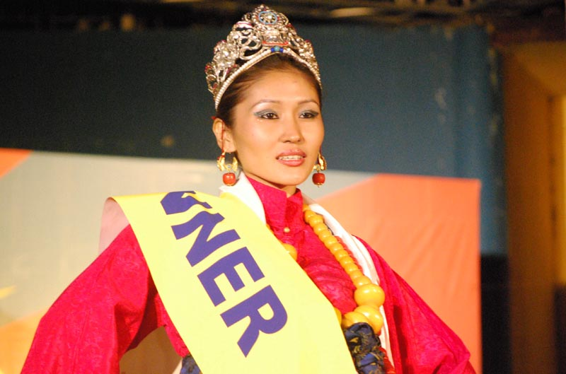 Tenzin Norzom, from Hunsur Rabgyal Ling, won the 2010 Miss Tibet title in Dharamshala, India on 6 June 2010. Phot: TPI