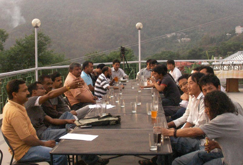 Indian and Tibetan Journalists living in Dharamshala, on 03 May 2010 jointly held an informal ceremony for the World Press Freedom Day at Hotel Dhuladhar, Dharamshala, India. Photo: TPI/Sangay Dorjee