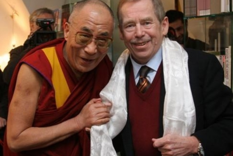 His Holiness the Dalai Lama and late President Vaclav Havel of the Czech Republic. Photo: file