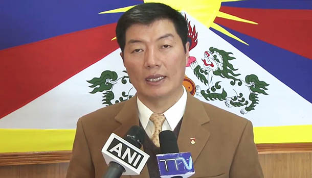 President Dr Lobsang Sangay thanks the U.S Government for the passage of Reciprocal Access to Tibet Act into Law, Dharamshala, India, on December 20, 2018. Photo: CTA