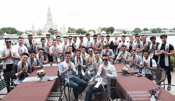 All the contestants visited  Wat Arun temple and Chao Phraya river in Bangkok, Thailand, on July 16, 2018. Photo: MG