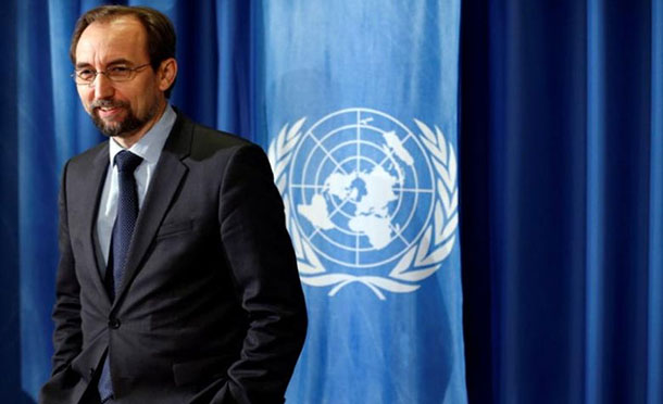 High Commissioner for Human Rights Zeid Ra'ad Al Hussein. UN File Photo