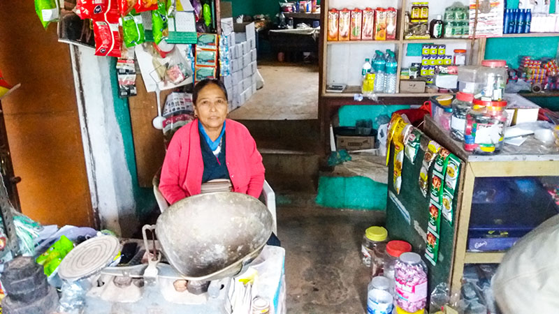 Namdol, a fellow shopkeeper from Dhondenling Tibetan settlement, Kollegal, South India. Photo: TPI/Tenzin Tsomo
