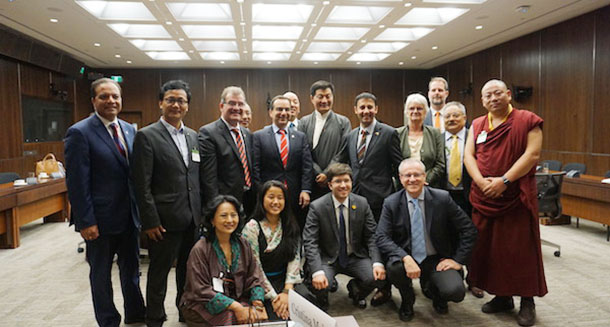 President Dr Lobsang Sangay and Tibetan Parliamentary delegation after testifying before the Canadian Parliamentary Standing Committee on Foreign Affair and International Development. Photo: CTA/DIIR