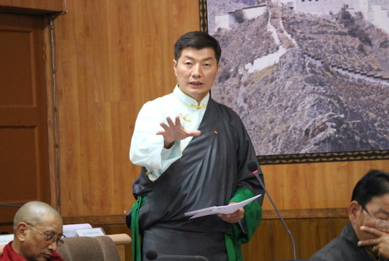 CTA President Dr Lobsang Sangay speaking during the Tibetan Parliament in Exile's most recent session. Photo: DIIR/CTA