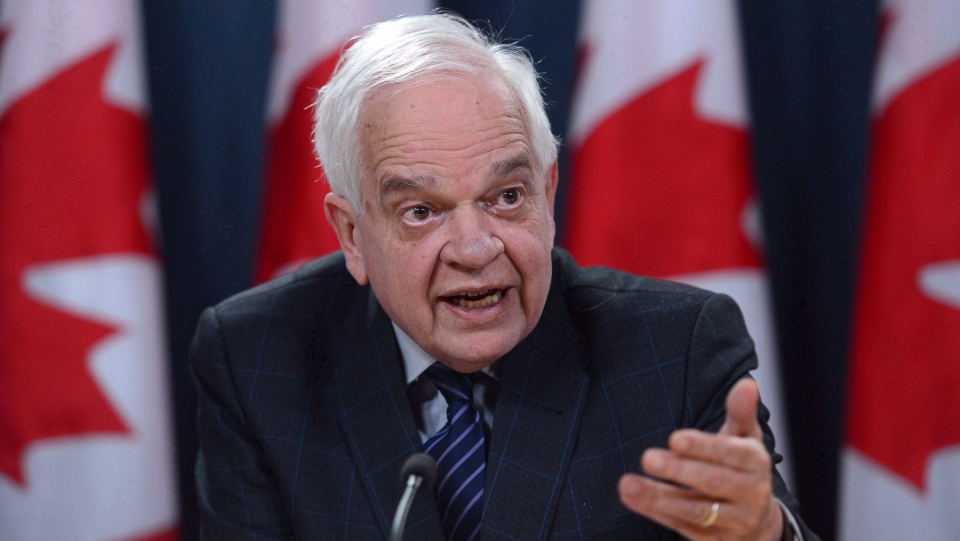 Canadian ambassador to China John McCallum speaks during a press conference in Ottawa. (Sean Kilpatrick/The Canadian Press)