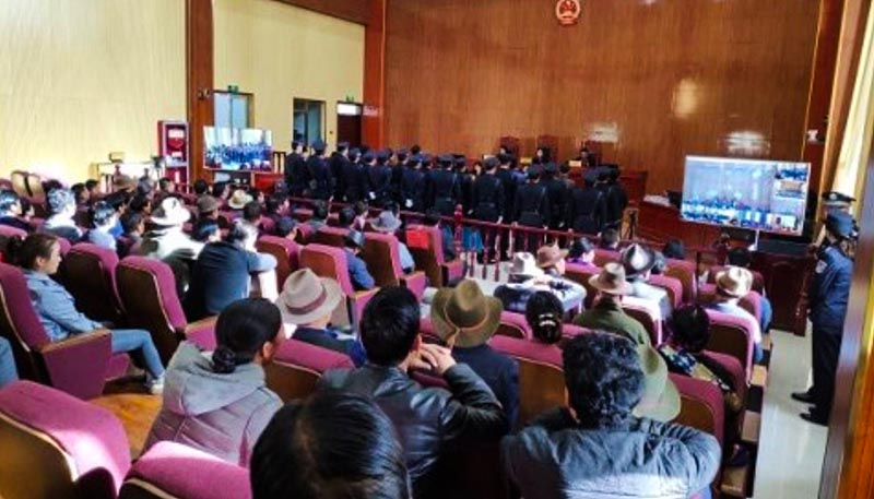 On April 10, 2019, a Chinese court sentenced nine Tibetans from three to seven years in prison in Rebkong County, Malho, northeastern Tibet. Photo: File