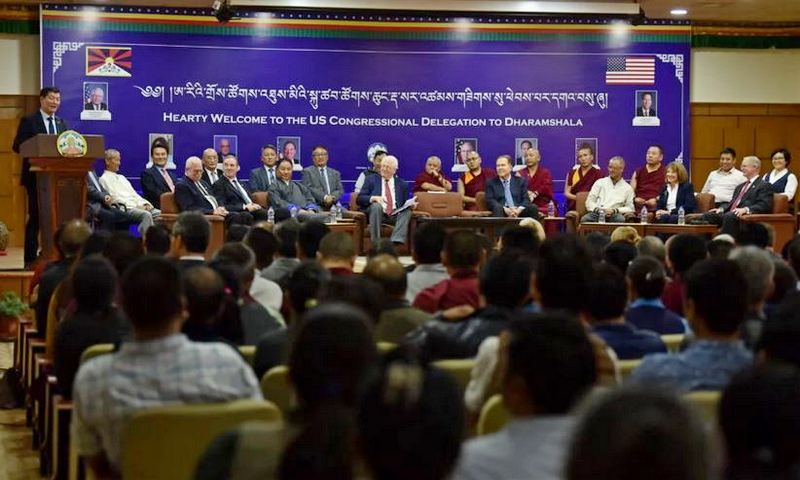 President Dr Lobsang Sangay delivering a welcome speech at T-building, CTA, Dharamshala, India, on August 3, 2019. Photo/Tenzin Jigme/CTA