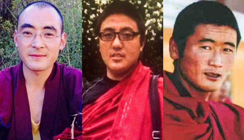 From right to left, Thubpa, Lobsang Dorje, and Lobsang Thamke. Photo: TPI