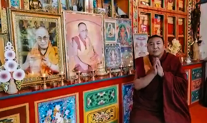 Ven Samten Woeser Rinpoche the former abbot of Chamdha monastery in Golok Chikdril County, eastern Tibet. Photo: TPI