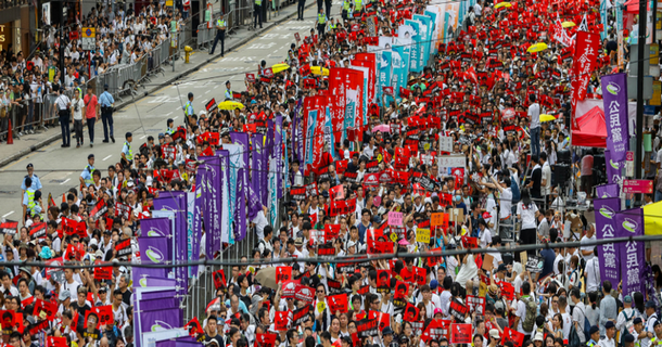 On Sunday, June 9th, one million Hong Kongers (more than 13% of the population) marched against this bill. Photo: RSF
