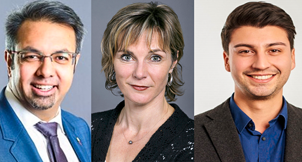 The three members of the Swiss Parliament who raised the issue of Tibet are Niklaus Gugger (L); Maya Graf (C) and Fabian Molina (R). Photo: File