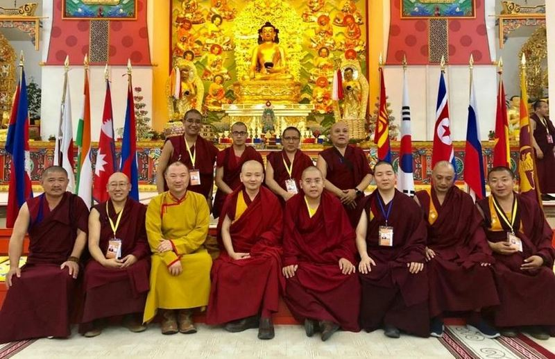 Representatives of the different schools of Tibetan Buddhist and Bon traditions represented at the Asian Buddhist Conference for Peace (ABCP), recently held in Ulaan Baatar, Mongolia. Photo: Office of Tibet, Moscow
