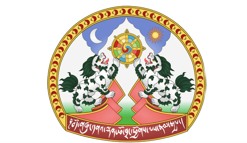 The Emblem of Tibet is a symbol of the Tibetan government in exile, combines several elements of the flag of Tibet. Photo: File