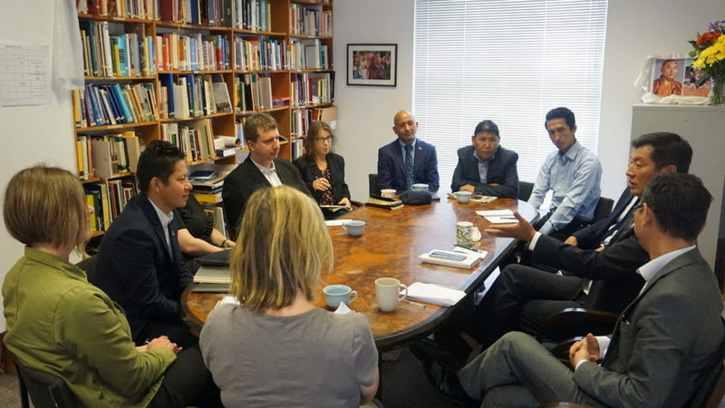 President Dr Lobsang Sangay at the meeting with representatives of UK based Tibet Support Groups, in London, UK, on June 19, 2019. Photo: Office of Tibet, London
