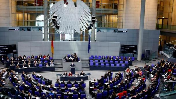The German lower house of Parliament, Bundestag, in Berlin, Gernamy. Photo: File
