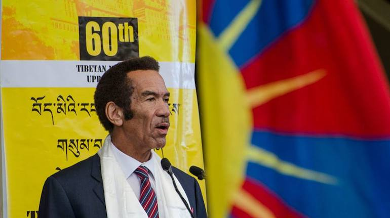 Dr Seretse Khama Ian Khama, Former President of Botswana on the 60th Anniversary of Tibetan National Uprising Day, in Dharamshala, India, on March 10, 2019. Photo: File