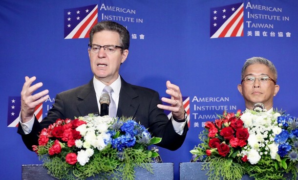 The US Ambassador-At-Large for International Religious Freedom Samuel D Brownback at the 2019 Regional Religious Freedom Forum in Taiwan. Photo/CNA