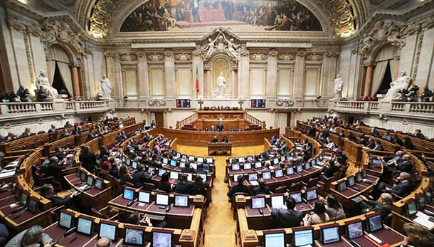 A general view of the Assembly of the Republic during the opening session in the first biweekly debate of the year, in Lisbon, Portugal. 11th Jan, 2019. Credit: SOPA Images Limited/Alamy Live News