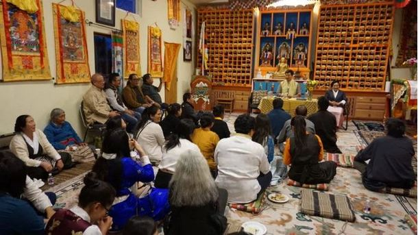 President Dr Sangay interacting with the Tibetan community in Santa Fe, 23 May 2019. Photo: Sikyong Office
