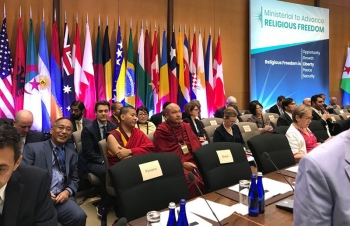 His Holiness the Dalai Lama's message for the Ministerial to Advance Religious Freedom