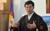 President Dr Losabg Sangay speaking to members of media in Dharamshala, India. Photo: TPI/Yeshe Choesang
