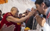 His Holiness the Dalai Lama meeting with Muslim community in Nubra Valley, J & K, India on July 12, 2018.