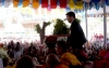 President Dr Lobsang Sangay speaking at the 600th Anni of Je Tsongkhapa's Parinirvana celebrations at Gaden Lachi in Mundgod, India on 21/12/2019. Photo by Lobsang Tsering