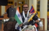 Sandesh Meshram starting his bicycle rally for Free Tibet and Save India in Dharamshala, India, on December 1, 2019 till 10th March 2020. Photo: TPI/Yangchen