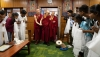 His Holiness the Dalai Lama's meeting with community representatives, staff and students of Tong-Len at his residence in Dharamshala, HP, India on July 7, 2019. Photo by Tenzin Choejor