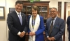 President Dr Lobsang Sangay and Representative Ngodup Tsering, OOT-DC meets with the senator for California, Dianne Feinstein who agrees to co-sponsor the new Tibet Policy Act. Photo: OOT