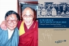 Kashopa Jamyang Choegyal with His Holiness the Dalai Lama and the front cover of his book. Photo: File