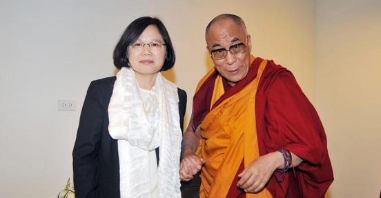 His Holiness the Dalai Lama with Tsai Ing-wen, the President of Taiwan. Photo: File