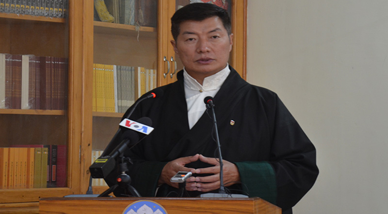 Dr Lobsang Sangay, President of the Central Tibetan Administration.  Photo: TPI/Yangchen Dolma