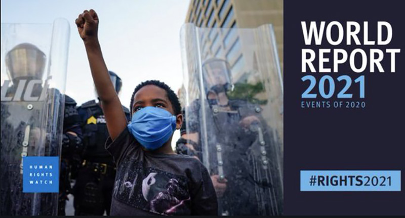 Human Rights Watch's Annual Report 2021.  Photo: Human Rights Watch