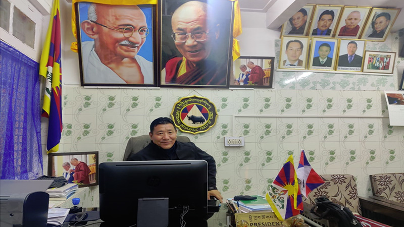 Tsetan Norbu, President of National Democratic Party of Tibet (NDPT). Photo: TPI/Aashna Thakur
